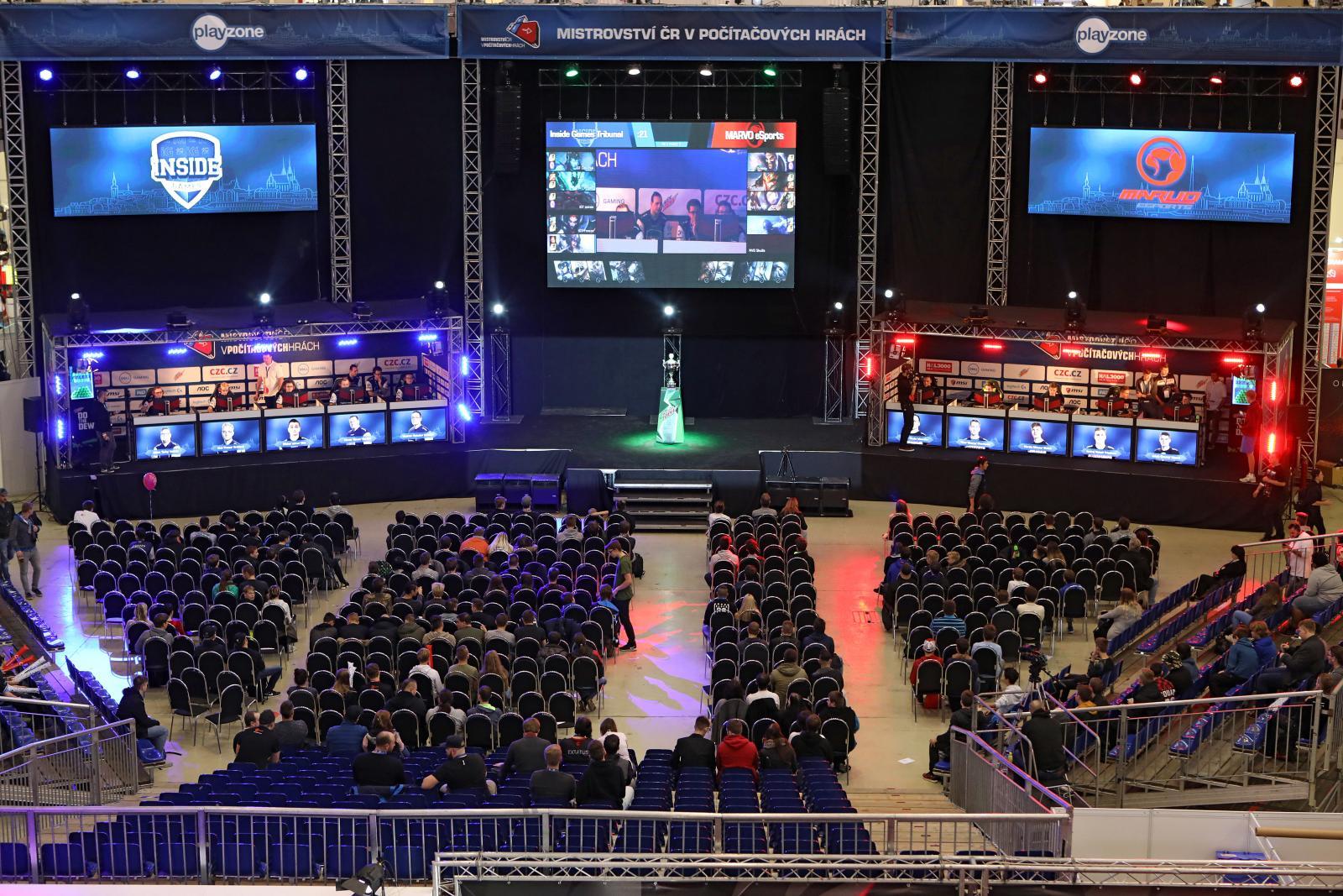 Main stage Mistrovství ČR v počítačových hrách 2017