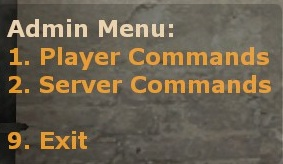 Warmod - admin menu